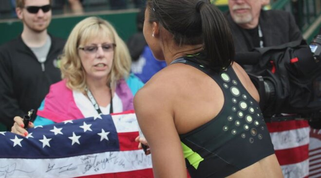 Flag signed by athletes at TrackTown12 (8)