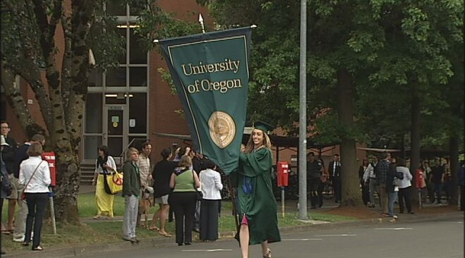 Graduation 2012 at the University of Oregon in Eugene