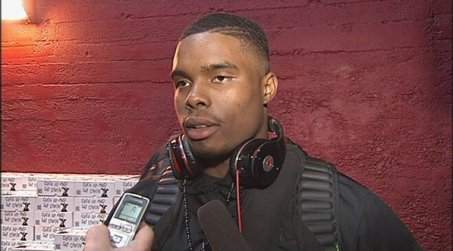 Raw Video: Josh Huff USC postgame