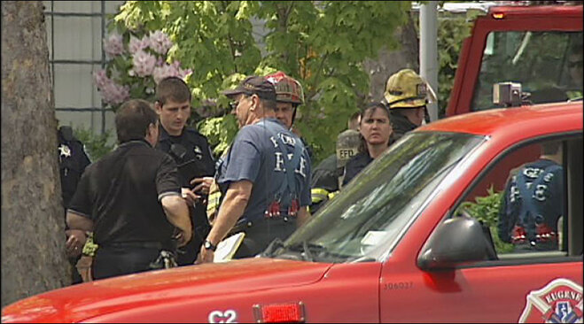 Hazmat response in downtown Eugene on May 18
