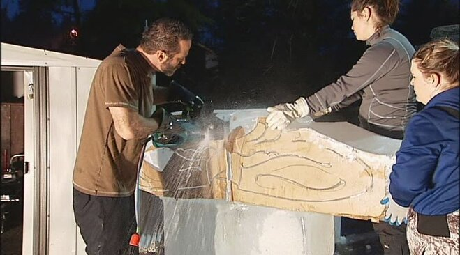 Champion ice carver: 'It's the most ridiculous medium'