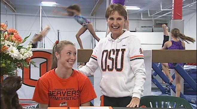 Kaytianna McMillan signs letter of intent with OSU gymnastics
