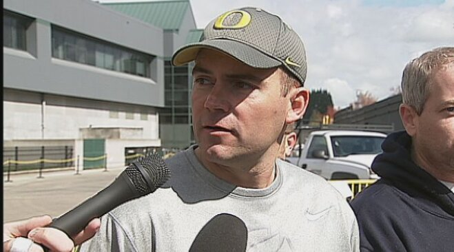 Raw Video: Mark Helfrich talks NCAA latest