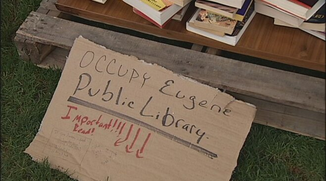 Occupy Eugene signs