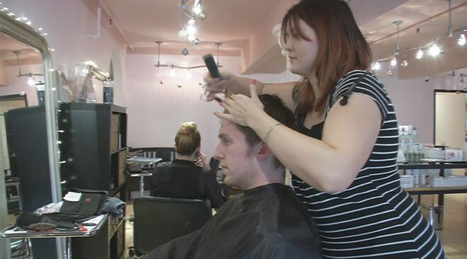 Scissors for Sandy: Cutting hair and giving to hurricane victims