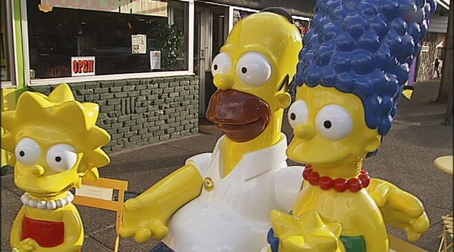 Simpsons statues on Main Street in Springfield (3)