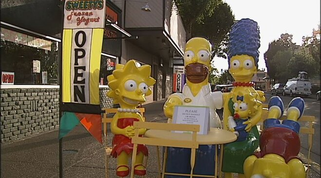 Simpsons statues on Main Street in Springfield (7)
