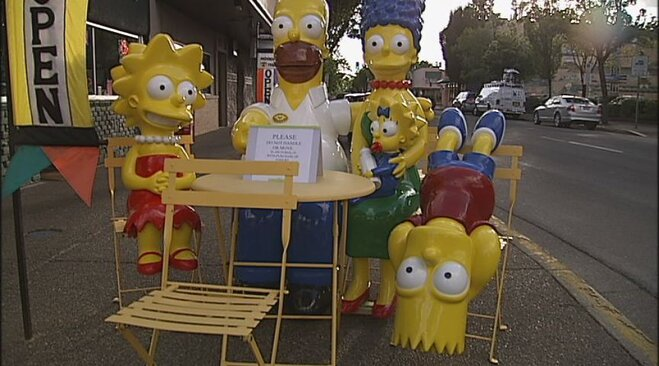Simpsons statues on Main Street in Springfield (9)