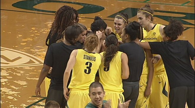 Stanulis' triple-double helps Ducks defeat Corban