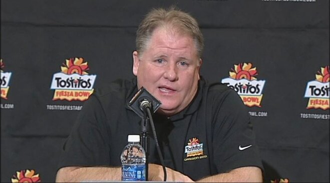Video: Chip Kelly at Fiesta Bowl media day