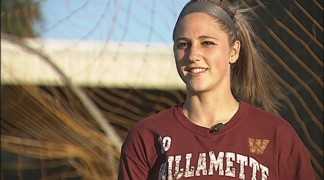 Brittany Glassow has Willamette in a groove