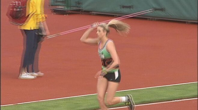 Crouser bests Brenner in javelin at Oregon Relays