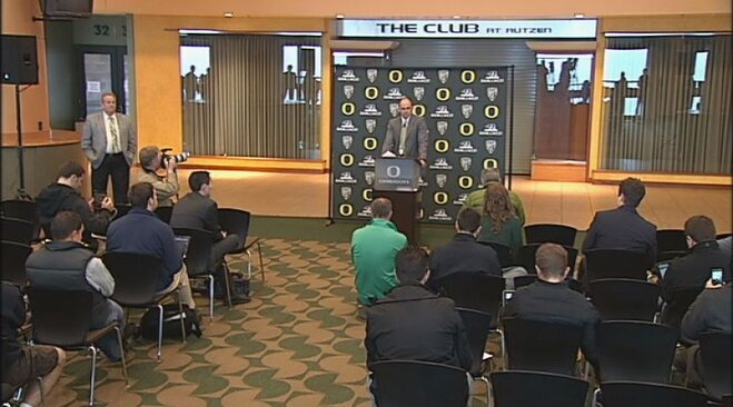 Video: Mark Helfrich introduced as Ducks head coach: Part 2