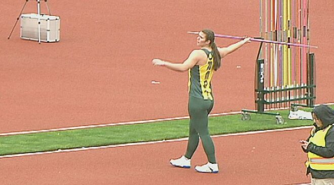 Video: Liz Brenner makes javelin debut at Oregon Preview