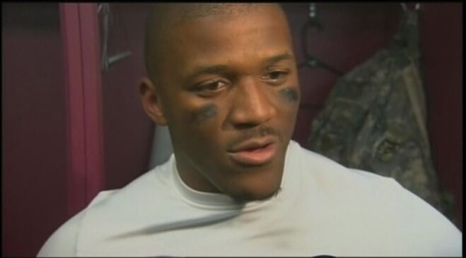 Raw Video: LaMichael James postgame at New England