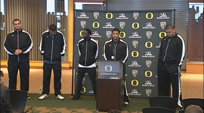 Video: Ducks rally in support of Helfrich