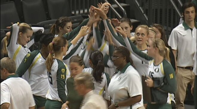 No. 9 Oregon spikes past St. Mary's