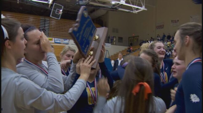 West Albany celebrates 5A state volleyball championship