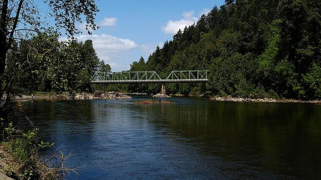 Troutdale Bridge on the HCRC by Michael Keyes
