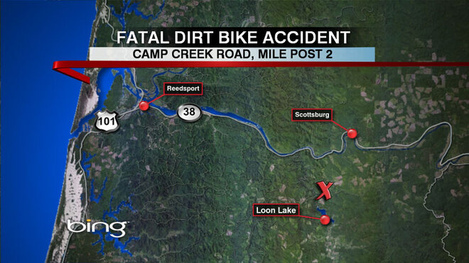 Dirt bike crash kills Reedsport man near Loon Lake on July 4
