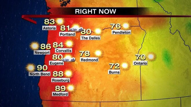 Record-setting heat bakes Eugene, Roseburg, North Bend