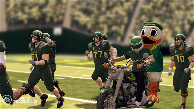 Puddles enters Autzen Stadium in EA Sports NCAA Football 12