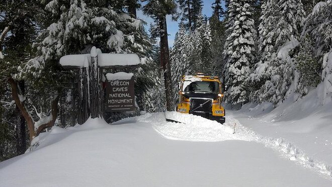 Snowplow at Oregon Caves National Monument by Doug McIvor
