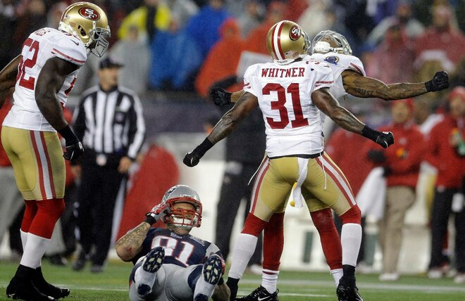 49ers S Goldson earning new label for hard hits