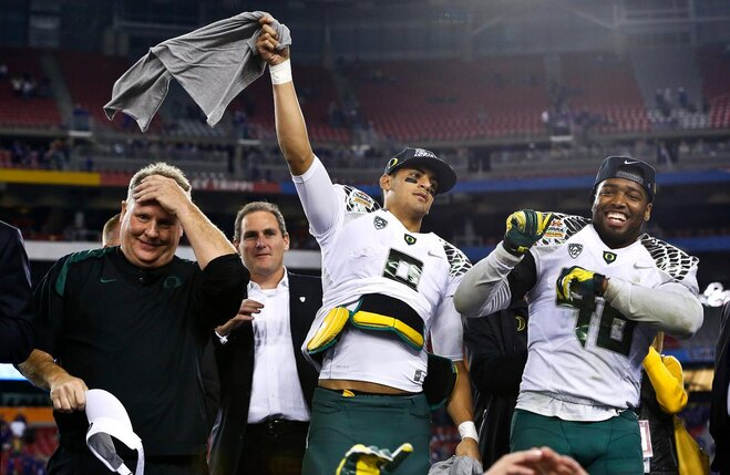 Oregon gets 1-point safety in Fiesta Bowl