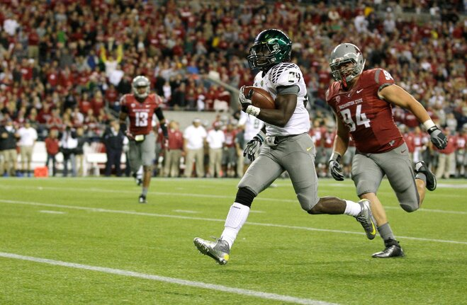 Kenjon Barner rushes into Heisman consideration