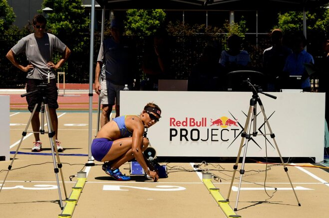 Lolo Jones sets up