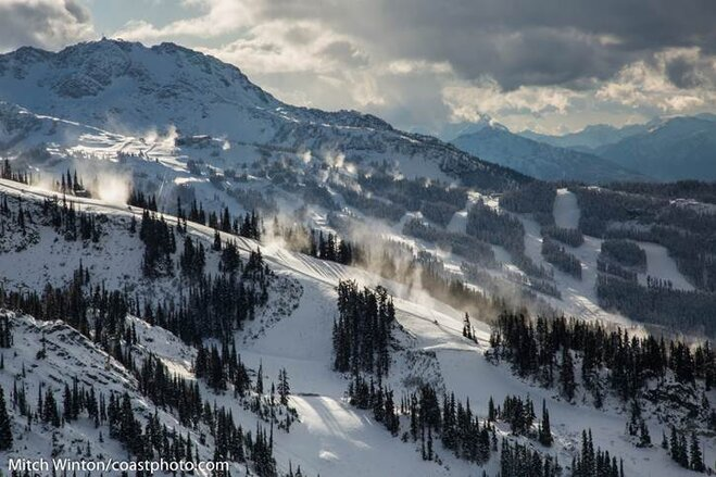 Fresh Snow on Northwest Ski Slopes