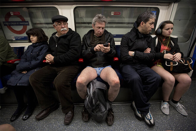 APTOPIX Britain No Trousers Tube