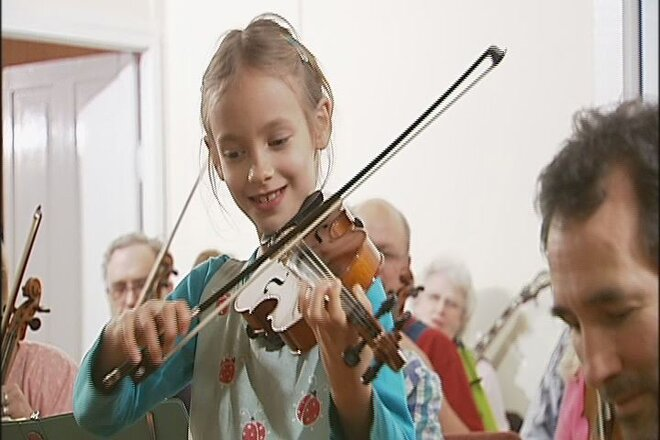 Oregon Pee-Wee Fiddle Champ at Spencer Creek Grange