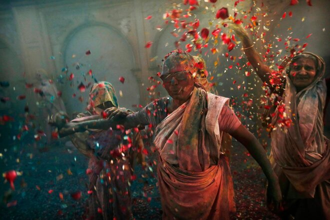 India Holi Festival Widows