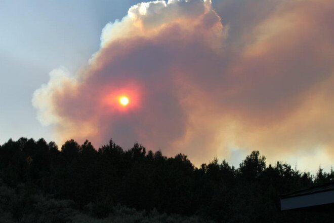 Miller Homestead fire in Southeast Oregon