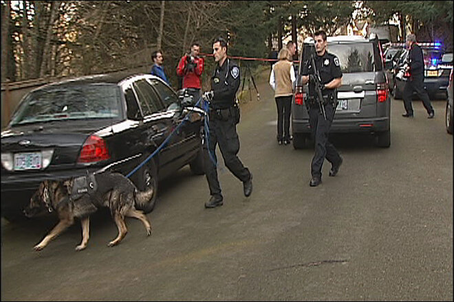 Police dog seeks second suspect