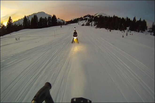 Snowmobiling in Central Oregon