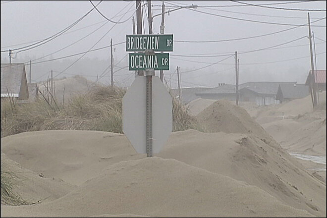 Storm turns Waldport neighborhood into a land of sand (2)