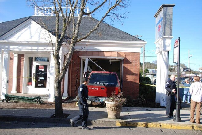 Truck crashes into Bank of America in Cottage Grove - Photo courtesy Mary Ellen (2)