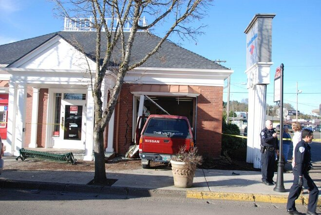 Truck crashes into Bank of America in Cottage Grove - Photo courtesy Mary Ellen (3)