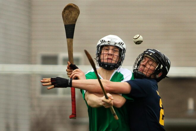 NewsLab visits the Eugene Trappers hurling team (2)