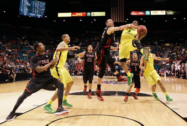 APTOPIX P12 Utah Oregon Basketball