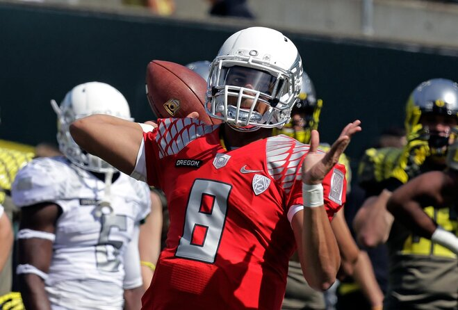 Ducks look like the Ducks of old in spring game