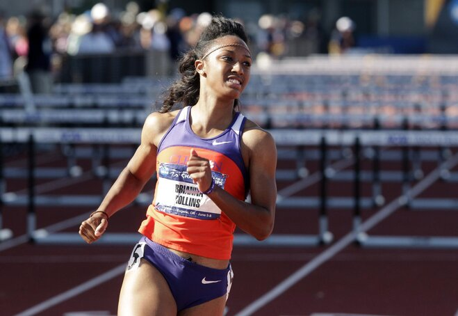 Clemson's Rollins sets record in 100-meter hurdles