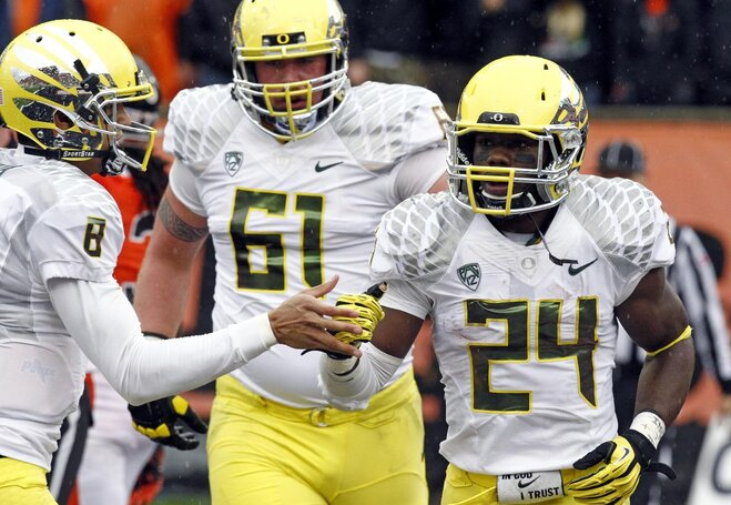 116th Civil War: Ducks double up on mistake-prone Beavers 48-24