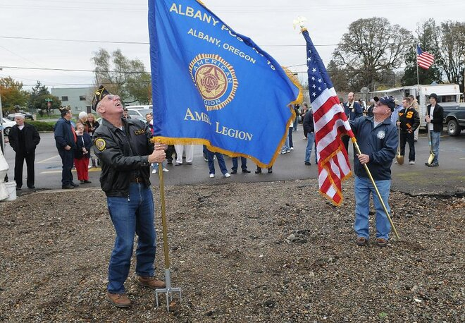 American Legion groundbreaking