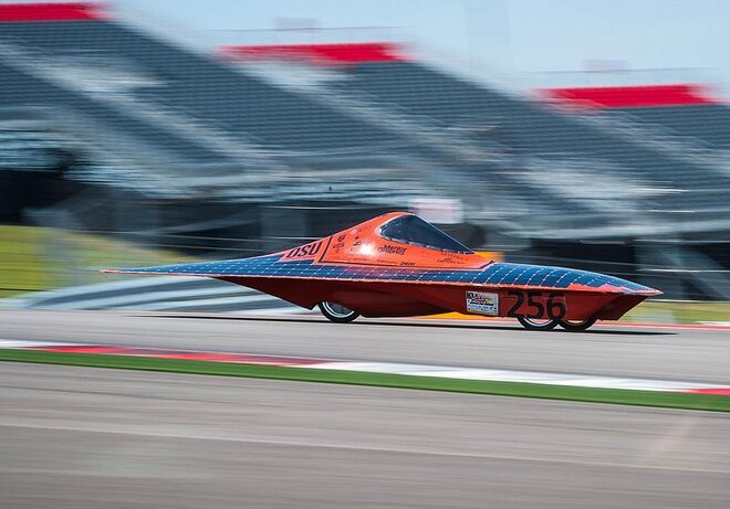 105 F. 193 laps. 661 miles. Only solar energy: OSU 'Phoenix' wins