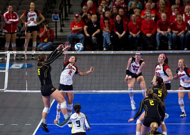 Oregon Nebraska Volleyball