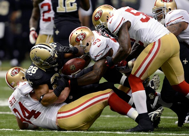 Justin Smith out for 49ers, ending starts streak